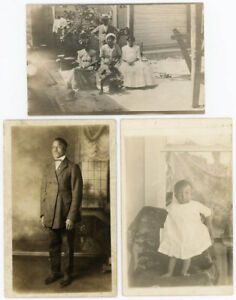 DEALER'S SPECIAL 34 BLACK AFRICAN AMERICAN VINTAGE POSTCARDS RPPC PHOTO