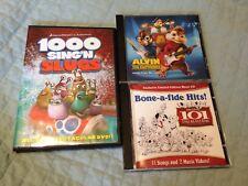 101 Dalmatians Bone-a-fide Hits, Alvin and the Chipmunks, 1000 Sing'n Slugs Demo