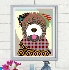 Bouvier des Flandres Dog Pop Art Pet Animal Print Puppy Portrait Painting