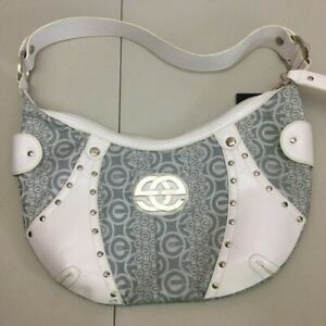 NWT red by marc ecko Handbag Gray/White With Silver Studs -HOBO style