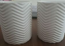 Ceramic White Toothbrush Holders X 2