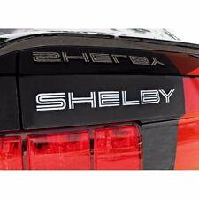 FM-SB MUSTANG SHELBY Letter Silver BLACK EMBLEM TRUNK DECK FORD Decals GT500