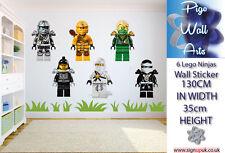 LEGO NINJA Adesivi Murali Bambini Camera Da Letto 6 SINGOLO ARTE Murale Decalcomania per bambini.