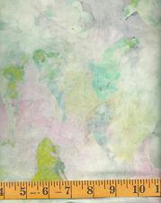 Cantik Batik 1058-743 Orca Play - Orcas on Light Green, Pink & Blue 1/2 yd