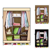 DIY Wardrobe Bedroom Frame Fabric Clothes Organiser Cabinet Storage Wardrobe