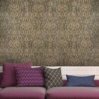 Modern Wallpaper kaleidoscope gray gold metallic textured wall coverings roll 3D