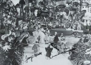 """The Wizard of Oz"""" 11x14 Photo Signed by (4) with Mickey Carroll, Jerry Maren,..."""