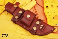 Custom Hand Made Pure Leather Sheath For Fixed Blade Knife -  Q778