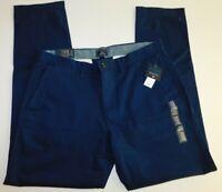 NWT GAP Men's Slim Navy Khaki Pants Stretch 38x32 New MSRP $50 Free Shipping