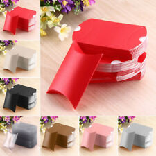 10pcs/50pcs Pillow Paper Candy Box Wedding Favors Baby Party Bread Gift Bags