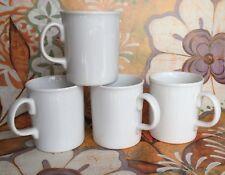Set of 4 NEW WHITE MUGS for tea coffee MUG CUP - High Quality