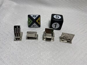 TV Edition Scene It? Replacement Game Part Metal Token Mover Pawn & Dice 6 Piece