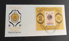 St Lucia 1981 Royal Wedding FDC First Day Miniature Sheet