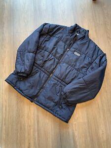 Vintage Le Coq Sportif Puffer Jacket Navy Puffa Coat Top Retro