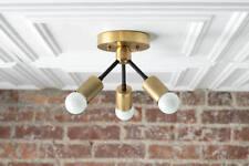 Geometric Metal Lamp - Ceiling Light Gold - Minimalist Lamp - Industrial Ceiling