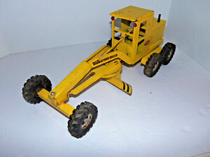 """VIntage 1960s Tonka Road Grader DOT Yellow Pressed Steel Toy No 512 Length 17"""""""