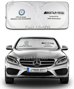 Car Front Windshield Sun Shade Shield Cover Visor UV Block Foldable for Benz