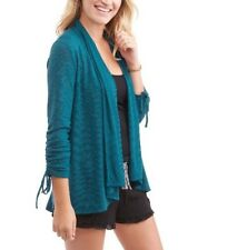 No Boundries Juniors Lace Inset Back Long Sleeve Open Front Cardigan SZ M 7-8