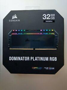 CORSAIR - DOMINATOR PLATINUM RGB 32GB 2x16GB 3.6 GHz DDR4 C18 Desktop Memory Kit