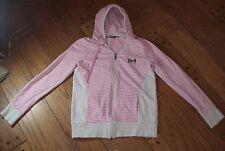 Rusty Striped Pink Hooded Sweatshirt Hoodie XL Size 12 Urban Zip up Jacket Youth