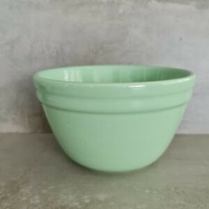 Vintage Fowler Pottery Mixing Pudding Bowl Green Australia 1Ltr 20th Century