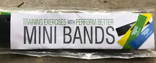 Perform Better Exercise Mini Band Multi colors Set of 4 Guide Included New