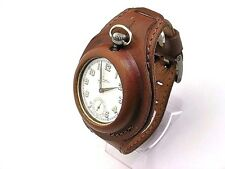 GENUINE LEATHER STRAP FOR POCKET WATCHES MILITARY TRENCH WWI STYLE, HANDMADE
