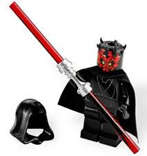 NEW LEGO STAR WARS DARTH MAUL MINIFIG figure 7961 minifigure w/ crown and hood