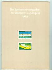 TIMBRES ALLEMAGNE + BERLIN LIVRET ANNEE COMPLETE 1978 SAUF SERIES COURANTE V. DE