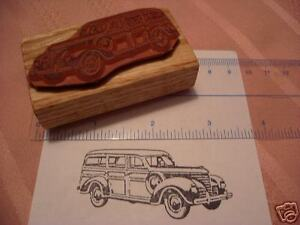 1939 Plymouth Woody Wagon  (Chrysler)  Car Rubber Stamp