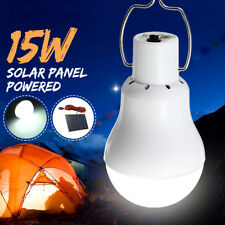 Portable Solar Panel Power LED Bulb Light Outdoor Camping Tent Fishing Lamp Hook