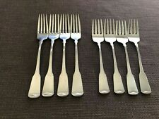 4 Forks Oneida AMERICAN COLONIAL Stainless Cube Satin Flatware CHOICE