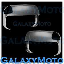 10-16 Dodge Ram 1500+2500+3500+HD Black Chrome Top Half Tow Towing Mirror Cover