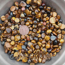 """50G Tiger Eye Tumbled Stones Small 1/4"""" Natural Crystals Small particle specimen"""