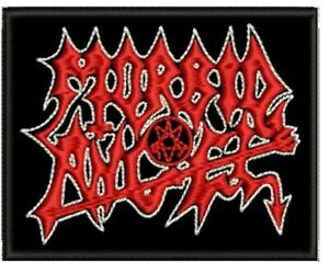 Morbid Angel embroidered patch sew on logo death Black Metal astral threads