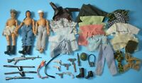 """Lot 1975 Lion Rock Mego 7"""" War Heroes WWII Soldiers Figures Accessories Clothing"""