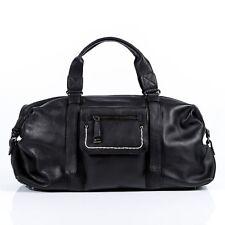 BACCINI Weekender Leder Reisetasche Sporttasche Damen groß schwarz