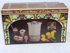 Ice Cream Maker & Citrus Fruit Juicer by SUNBEAM No. 8603 NEW-IN-BOX(Opened)