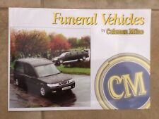Coleman Milne Saab Hearse Funeral Car Brochure in Excellent condition