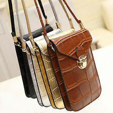 Fashion Shoulder Strap Wallet Purse Coin Cell Phone Mobile Pouch Bag Case Cover