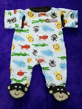 Carter s Preemie baby boy White Safari cute sleepwear 9b21be134
