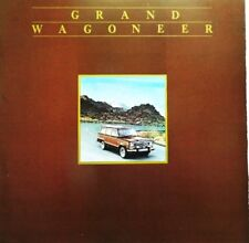 1984 Jeep Grand Wagoneer 12- Page Dealer Sales Brochure