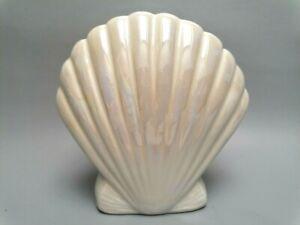 retro lutre shell ceramic posy vase toothbrush holder vtg interior