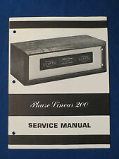 PHASE LINEAR 200 AMPLIFIER SERVICE MANUAL ORIGINAL FACTORY ISSUE