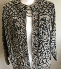Nor Easterly Scotland Knit Cardigan Jacket Sweater Button Wool Button Front Med