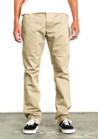 RVCA Mens Week-End Pant Pants  Khaki M3307WEP SLIM-STRAIGHT FIT