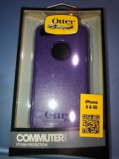 Authentic Iphone 5/5s Otterbox Commuter Series Shell Case (Black/Purple)