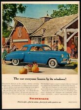 1948 STUDEBAKER Blue Starlight Hardtop Automobile Car - Harvest VINTAGE AD