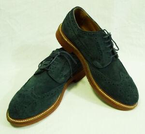 J.Crew Kenton Navy Blue Suede Wingtip Shoes size 8.5