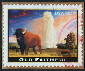 U.S. Used #4379 $17.50 Old Faithful (on piece), Superb. Magenta CDS Cancel. Gem!